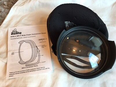 Ikelite WD-4 wide angle conversion dome port hardly ever used
