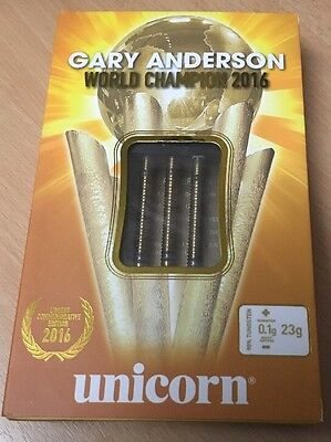 23G Limited Edition World Champion Gold Gary Anderson Tungsten Darts
