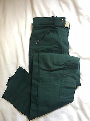"Ladies Dublin Green Jodphurs Size 26"" Uk"