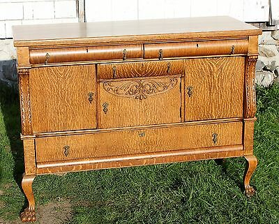 Tiger Oak Sideboard Server Buffet Clean Ready to Go Refinished