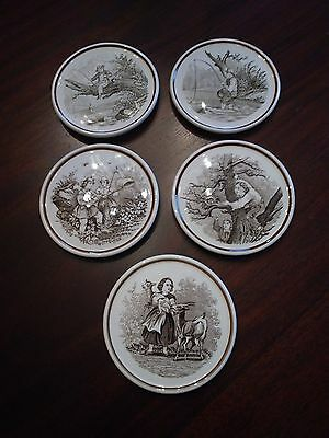 Set of 5 Coasters Made in Germany Vintage Country Scenes NOW ON SALE
