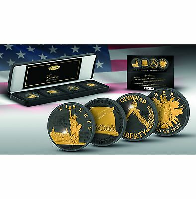 2017 Golden Enigma 1986 - 1989 USA Commemorative Ruthenium & Gold Proof Coin Set