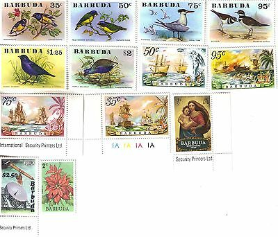 Set of 13 different MNH stamps from Barbuda
