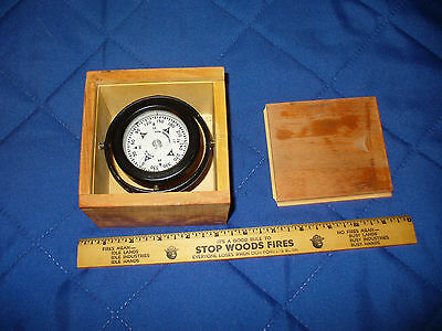 "Vintage Gimbal Compass Dovetailed Wooden Box Marine Compass Ritchie 3"" Antique"