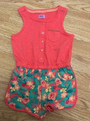 F & F Baby Girls Floral Playsuit 12-18months Vgc
