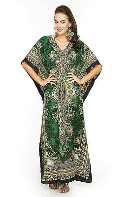 New Womens Long Dress Beach Caftan Lounge Kaftan Cover up Gown Outfit One Size