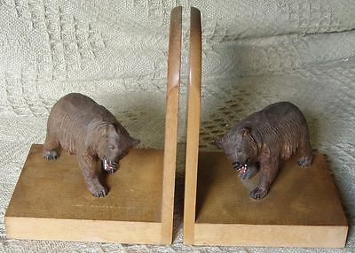 Black Forest Strolling Bears Book Ends