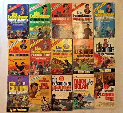 The Executioner by Don Pendleton book lot of 15, Paperbacks 9-19 vintage