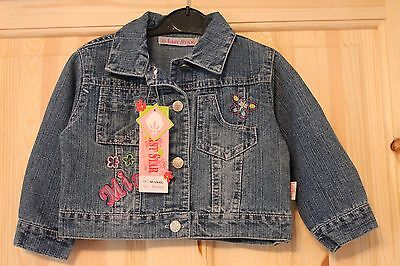 Girls denim embroidered  jacket aged 12 months- brand new with tags
