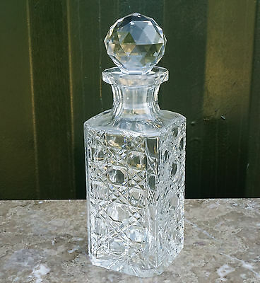 A very nice, Hand made, Hand cut,  ROYAL BRIERLEY  lead crystal decanter
