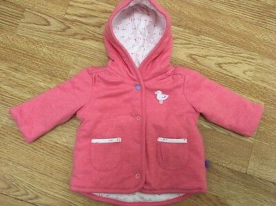 M & S Baby Girls Wadded Jacket 0-3 Months
