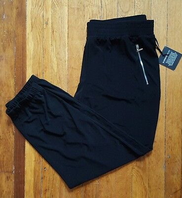 NWT $89 Chicos Knit Kit Jogger Black Ruched Ankle Skimmer Crop Pants SZ 2