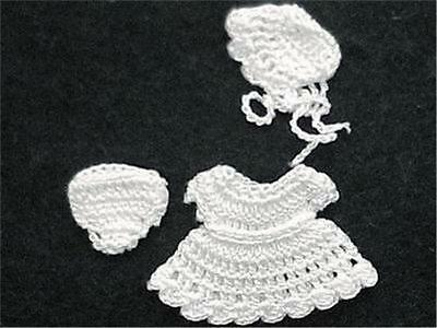 DOLLHOUSE Baby Doll's Dress Outfit HOXZ854 Heidi Ott all white 1:12 Miniature