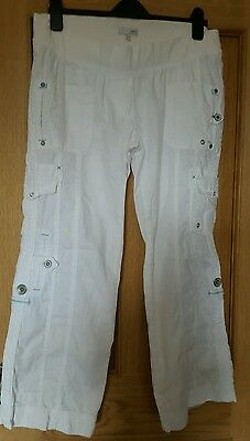 Ladies Next white maternity trousers size 10S