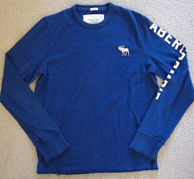 Pre-Owned Abercrombie & Fitch Men's Long Sleeve Muscle T-Shirt Blue Size L