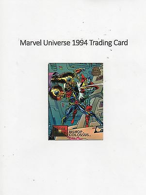 1994 Marvel Universe Trading Card #15 Fatal Attractions - Bishop / Colossus