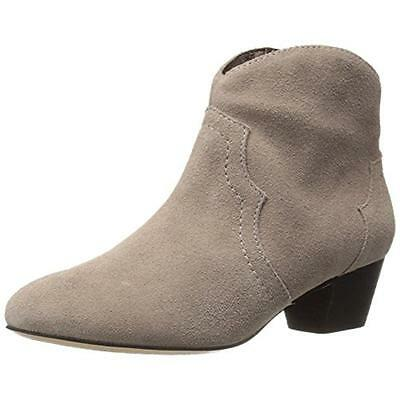 Schutz 9815 Womens Abiha Taupe Suede Ankle Boots Shoes 9.5 Medium (B,M) BHFO