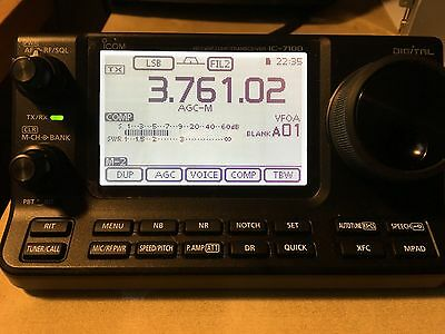 Icom 7100 - With extras! Includes Heil ICM microphone!