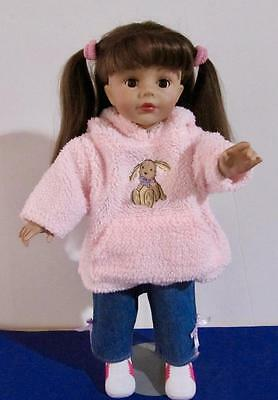 Madame Alexander 19in Doll Brunette Hair Brown Sleep Eyes Clothes and Shoes
