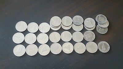 Vintage Shell Gas Coin Game Tokens STATES 30 Coins in lot