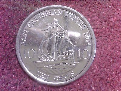 East    Caribbean   States  10  Cents  2014