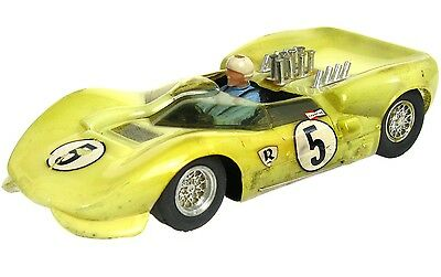 Vintage 1960's RussKit 1/24 Slot Car Chaparral 2 Carrera Sidewinder Chassis