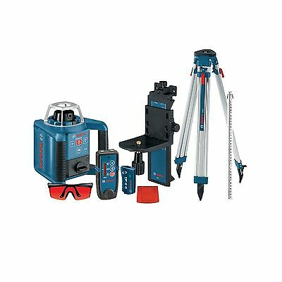 Bosch GRL300HVCK Self-Leveling Rotary Laser with Layout Beam Complete Kit wit...
