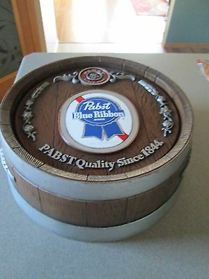 """Vintage Pabst Blue Ribbon """"Pabst Quality Since 1844."""" Wall Barrel Beer Sign"""