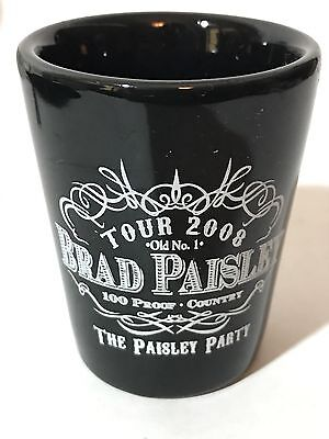 Brad Paisley The Paisley Party 2008 Black Shot Glass Old No.1 100 Proof Country