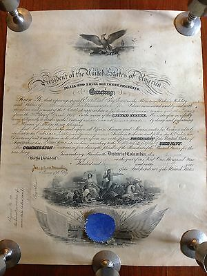 US President Woodrow Wilson Naval Appointment 1921 co-sign Jospeheus Daniels