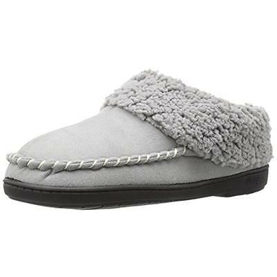 Dearfoams 2793 Womens Gray Microsuede Clog Slippers Shoes XL 11-12 BHFO
