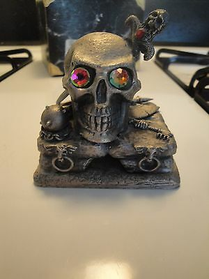 Tudor Mint Myth and Magic The Tortured Skull WITH BOX!  goth gothic pewter