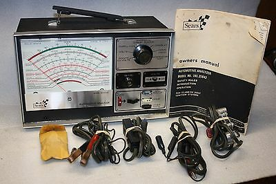 Vintage Sears Automotive Analyzer Model No.161.21042 Owners Manual Original Box