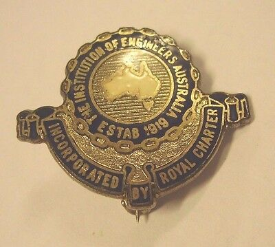 Vintage Institution Of Engineers Of Australia Badge Pin Parkes Union?