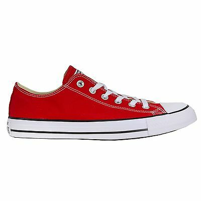 Converse All Star OX Low Top Shoes Red Men's 9.5/ Women's 11.5
