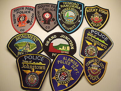 police patch  LOT OF 10 POLICE PATCHES COLORADO