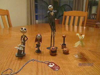 Lot of the Nightmare Before Christmas Action Figures