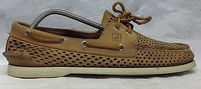 Sperry Top Sider Sz 10 M US Men's Brown Leather Lace Up Boat Dock Casual Shoes