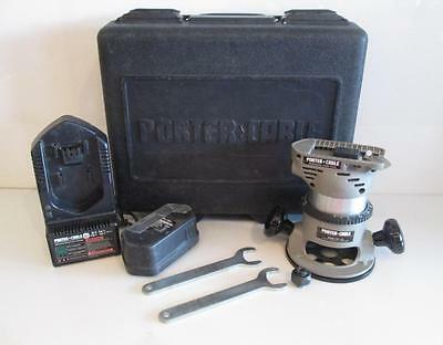 Porter Cable 2902 Cordless Battery Router w/ 1001 fixed Base & Case plus Extras