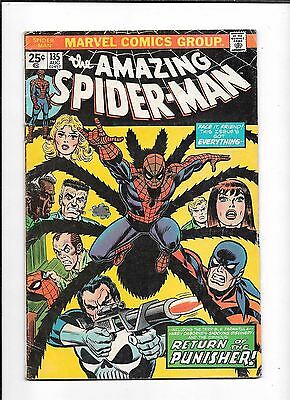 The Amazing Spider-Man #135 ==> Vg 2Nd Appearance Of The Punisher  Marvel 1974