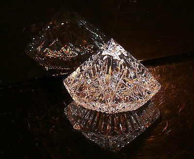Rare Waterford Ireland Crystal Large  Diamond Stunning !