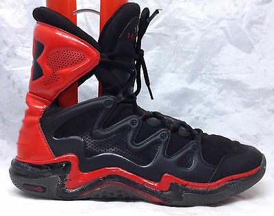 Under Armour Charge BB Sz 14 US Men's Black Red Basketball Shoes