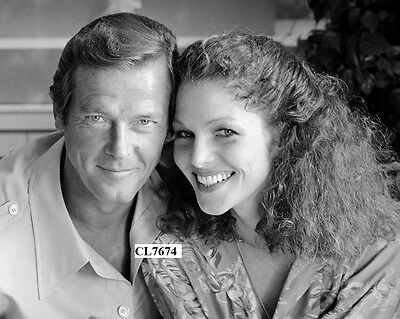 Roger Moore with Lois Chiles at Reception for James Bond Movie 'Moonraker' Photo
