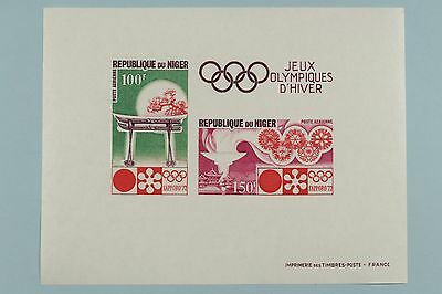 Very Nice Niger 1972 Winter Olympics Souvenir and Proof Essay Stamp Sheets