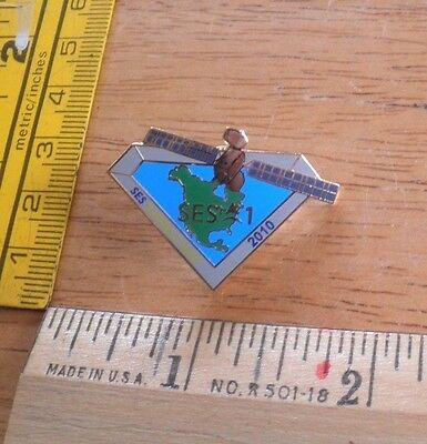 Space flight mission SES-1 Launch team Satellite pin ILS A World Skies 2010