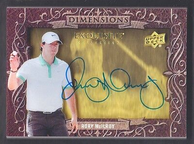 2014 Exquisite Collection Golf Dimensions Shadow Box Autograph Rory McILroy Auto