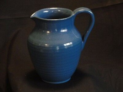 Marblehead Pottery Matte Blue Creamer Pitcher Vintage Arts and Crafts  Pottery