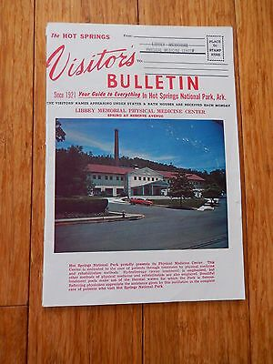1964 The HOT SPRINGS ARKANSAS Visitor's Bulletin 44 pages Booklet