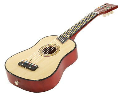 """25"""" Children's Kids Toy Acoustic Guitar Natural Wood with Bag and Accessories"""