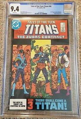 Tales of The Teen Titans #44 CGC 9.4 (Like PGX, CBCS) Nightwing! Deathstroke!